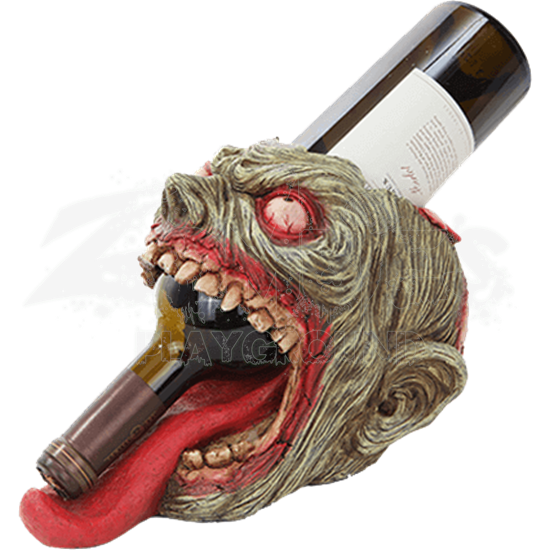 Zombie Head Wine Holder