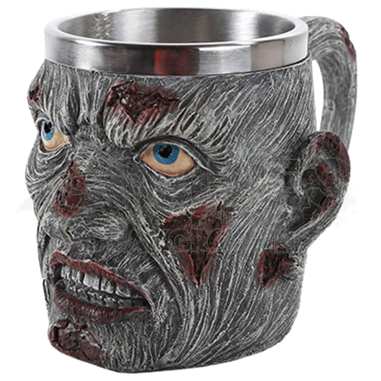 Creepy Zombie Head Mug
