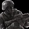 Soldier in Combat Statue