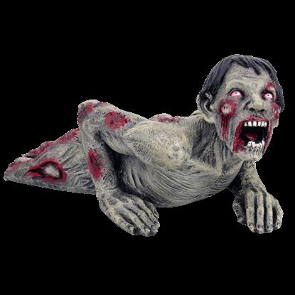 Crawling Zombie Statue