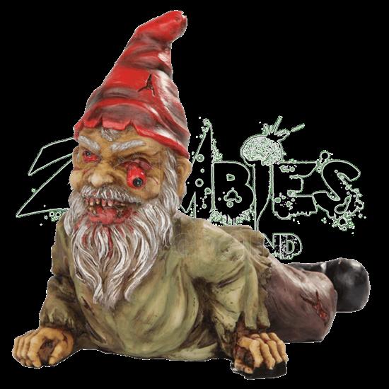 Zombie Crawler Garden Gnome