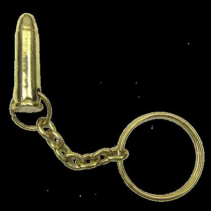 Brass Bullet Key Chain