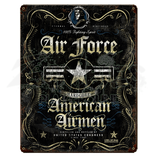 Air Force Fighting Spirit Vintage Steel Sign