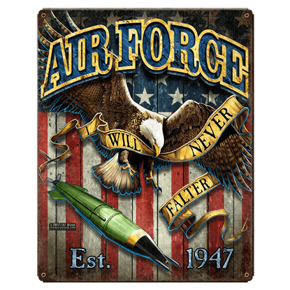 Air Force Fighting Eagle Vintage Steel Sign