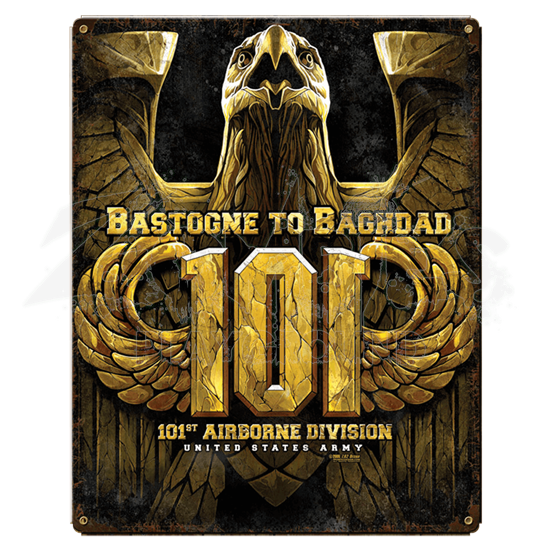 Army 101st Airborne Bastogne To Baghdad Sign