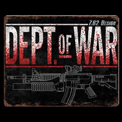 Dept Of War Vintage Steel Sign