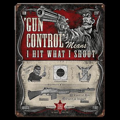 Gun Control Vintage Steel Sign
