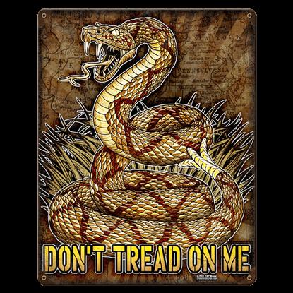 Don't Tread On Me Vintage Steel Sign