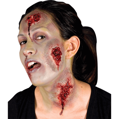 Zombie prosthetics zombie scars and zombie wounds by - Zombie scars with glue ...