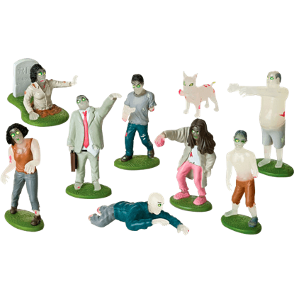 Glow In The Dark Flesh Eating Zombies Play Set