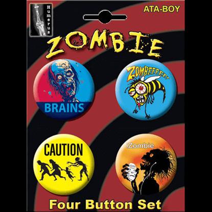 Zombie Humor Button Set