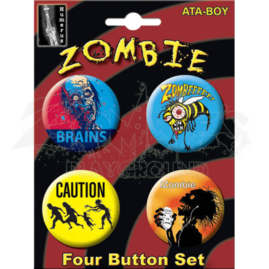 Zombie Humor Button Set