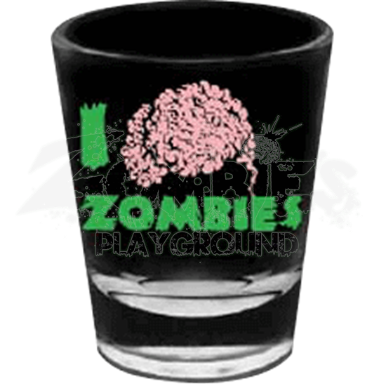 I love Zombies Shot Glass