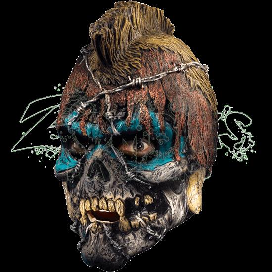 Scalped Skull Vinyl Mask