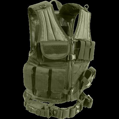 Cross Draw Olive Drab Tactical Vest