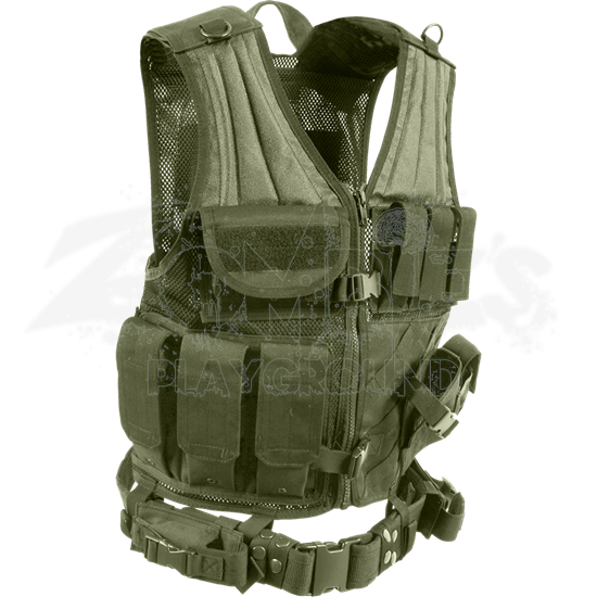Cross Draw Olive Drab Tactical Vest
