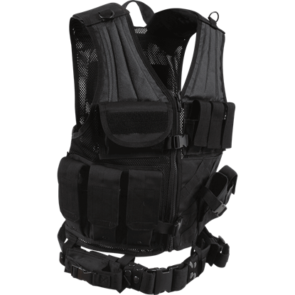 Cross Draw Black Tactical Vest