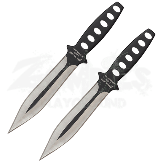 2 Piece Black Wing Throwing Knives