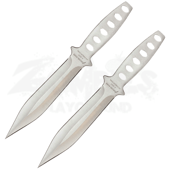 2 Piece Chrome Wing Throwing Knives