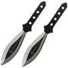 2 Piece Biohazard Black Leaf Blade Throwing Knives