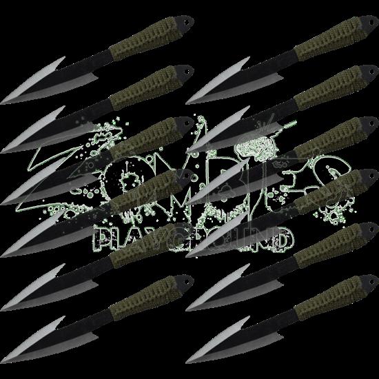 12 Piece Ninja Hunter Throwing Knives