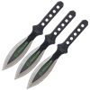 3 Piece Biohazard Black Leaf Blade Throwing Knives