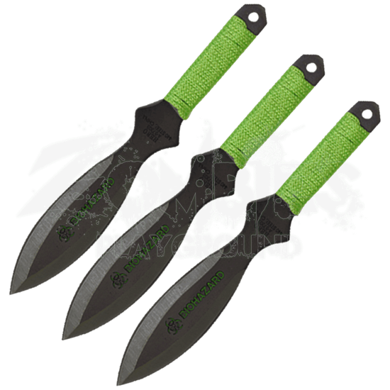 3 Piece Biohazard Zombie Killer Throwing Knives