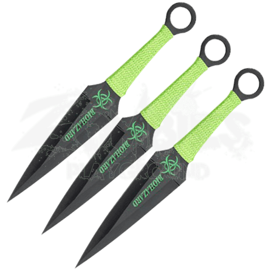 3 Piece Biohazard Corpse Slayer Throwing Knives
