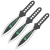 3 Piece Biohazard Dual Toned Leaf Blade Throwing Knives