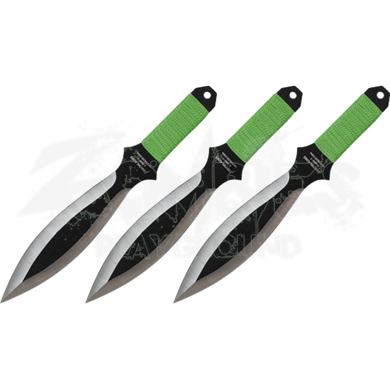 3 Piece Two Tone Leaf Throwing Knives