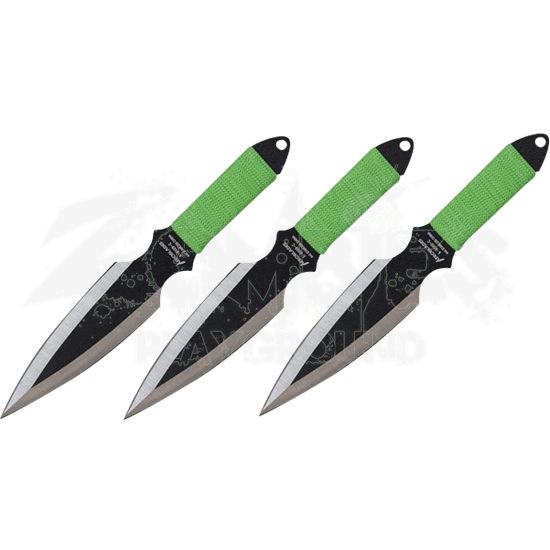3 Piece Two Tone Throwing Knives