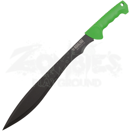 Green Biohazard Survival Machete