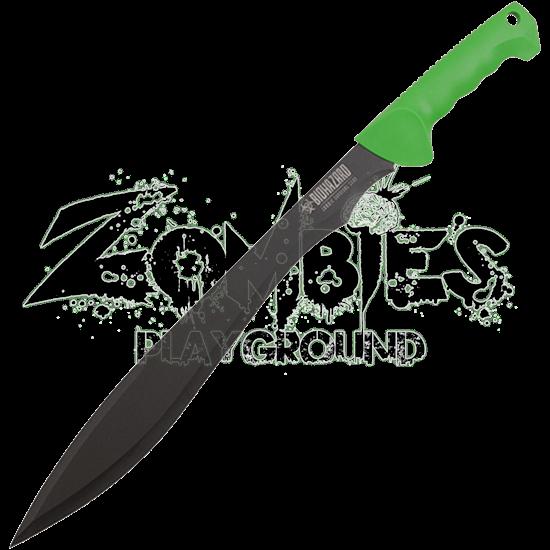 Green Biohazard Survival Machete