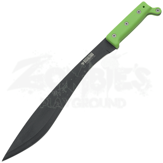Green Biohazard Tactical Machete