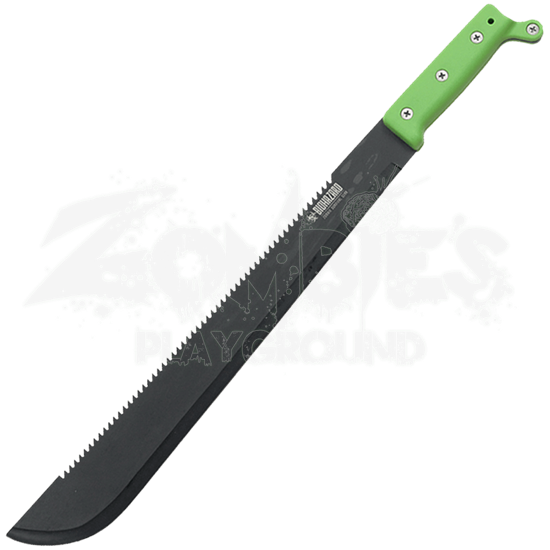 Green Biohazard Sawback Bush Machete