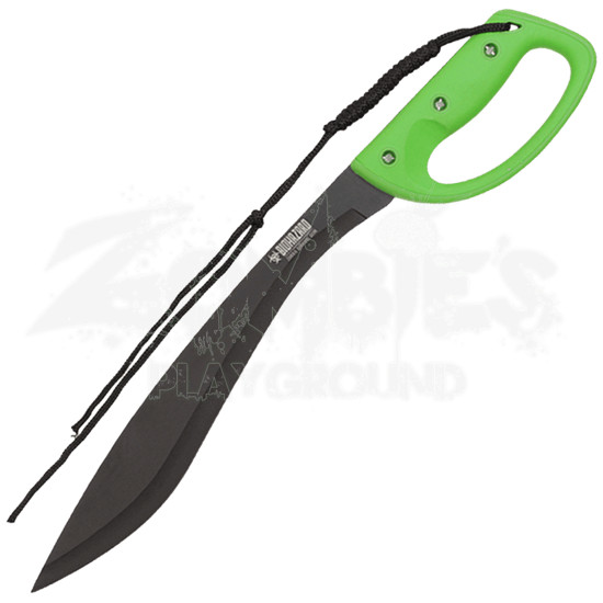 Green Biohazard Kukri Machete