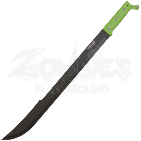 Green Biohazard Bush Machete