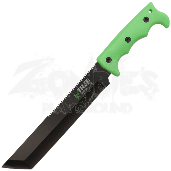Biohazard Serrated Cleaver Machete