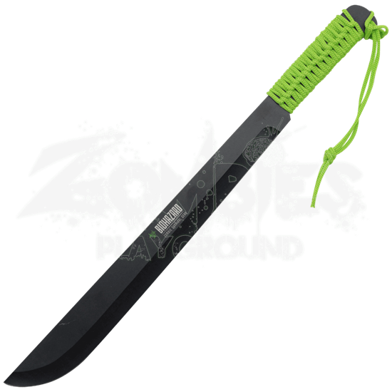 Green Paracord Biohazard Bush Machete