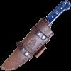 Blue Damascus Steel Utility Knife