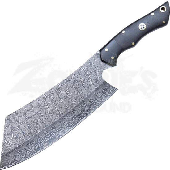 Damascus Steel Cleaver Knife
