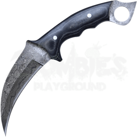 Damascus Steel Karambit Knife