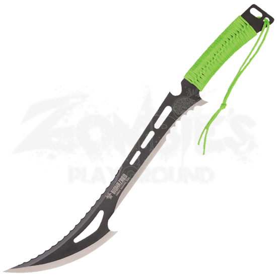 Green Paracord Biohazard Machete