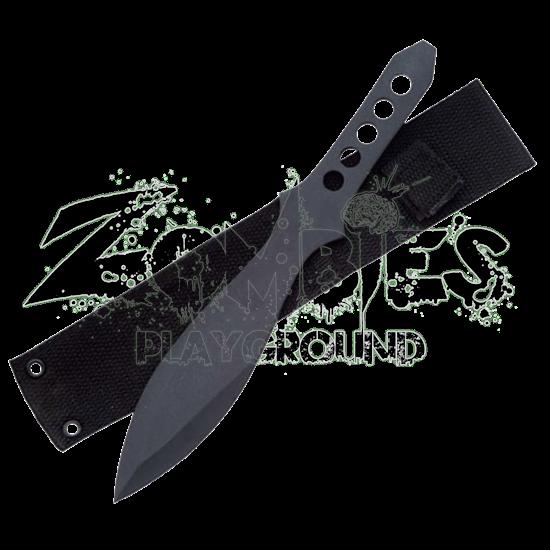 Black Throwing Knife