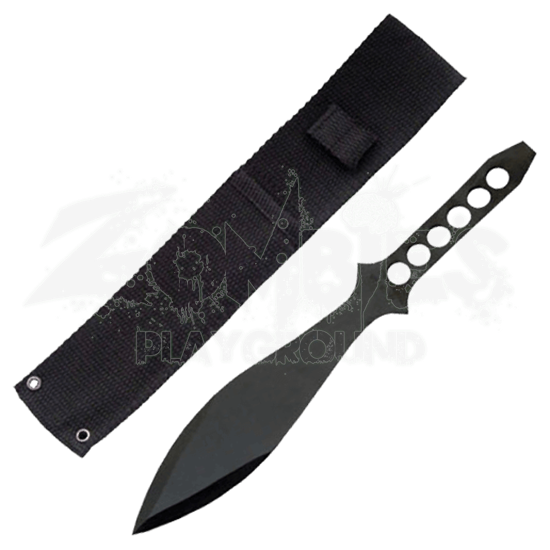 Large Black Throwing Knife