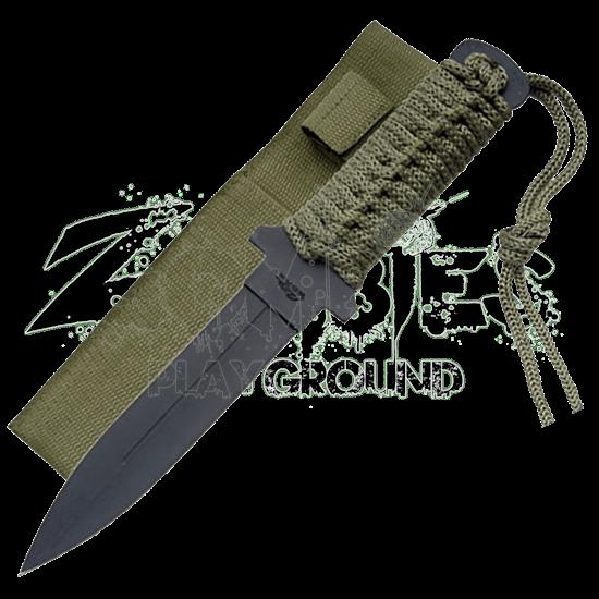 Blackened Military Commando Knife