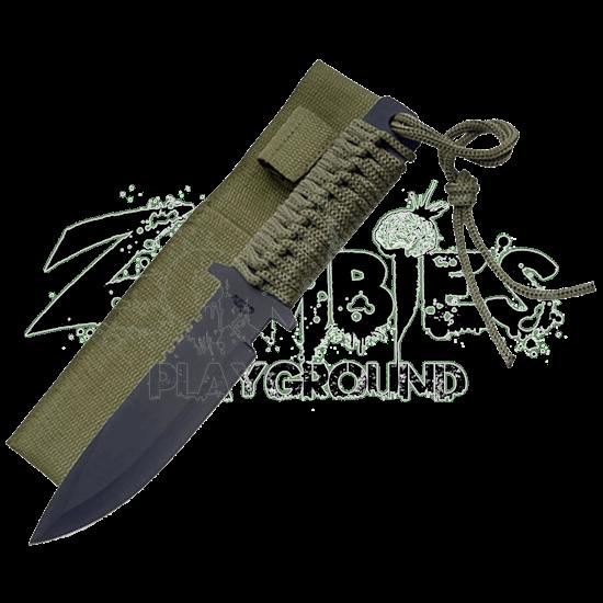 Blackened Military Spear-Head Knife