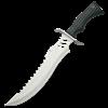 Silvered Skull Combat Knife