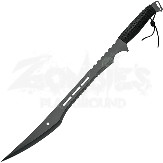Black Serrated Bush Machete