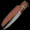 Upswept Horn Damascus Knife